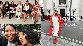 PLUS SIZE FASHION SHOW, SHOPPING + MEET UP | London Vlog