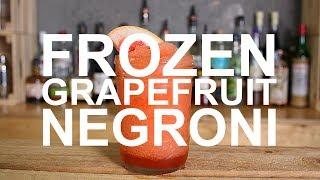 Frozen Grapefruit Negroni Gin Cocktail Recipe