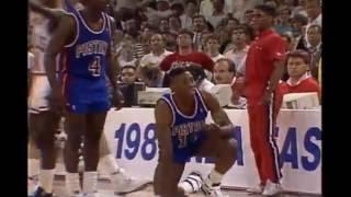 Pistons-Bulls (1989): All Cheap Shots, Altercations, and Techs