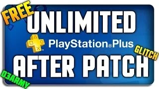 How to get FREE Unlimited PS PLUS (After Patch) (NO Credit Card)