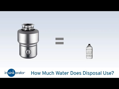 Garbage Disposal Myths- How Much Water Does a Disposal Use?