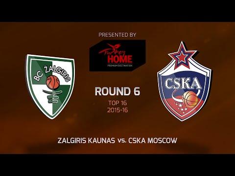 Highlights: Top 16, Round 6, Zalgiris Kaunas 59-94 CSKA Moscow