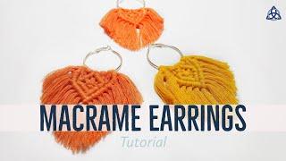EASY Macrame Earrings Tutorial | BOHO Earrings DIY | Macrame Jewelry