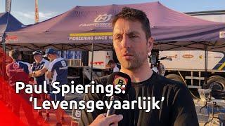 Paul Spierings is aangedaan door de crash van Edwin Straver. Hij noemt etappe van vandaag 'levens...