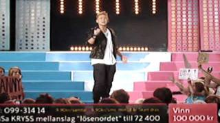 """Danny Saucedo sings """"In the club"""" at sommarkrysset 2011"""