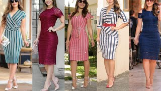 25+ Knee-length Summer Dresses / Knee Length Different Types Dresses /
