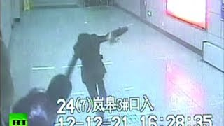 CCTV: Passer-by sticks out foot to trip up fugitive chased by Chinese cops