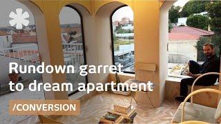 Lisbon tiny flat blends old/modern & perches over city views