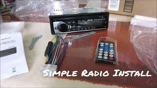 How to install a car radio // Simple!