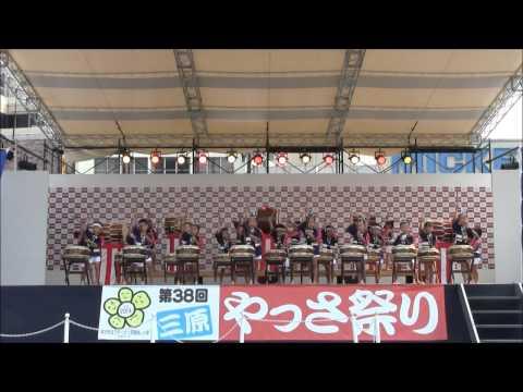 三原やっさ祭り2013西田幼稚園太鼓演奏