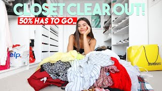 MASSIVE Wardrobe Clear Out! Declutter My Closet With Me!