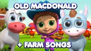 Old MacDonald + Farm Animal Songs | Nursery Rhymes | Kids Songs
