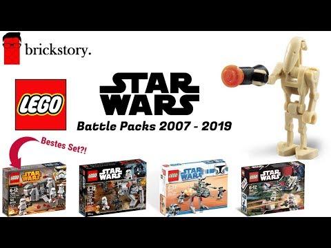 Alle LEGO Star Wars Battlepacks! | Sets  von 2007 - 2019 !