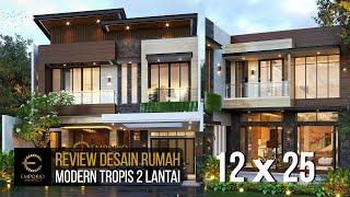 Video Desain Rumah Modern 2 Lantai Bapak Alex di  Jakarta Barat