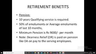 Retirement Benefits by J.C. Nagaraja Rao