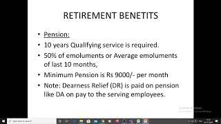 Retirement Benefits by J.C. Nagaraja Rao