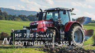 Massey Ferguson 7715 DynaVT + Pöttinger Servo 35S Plus   Ackern · Ploughing