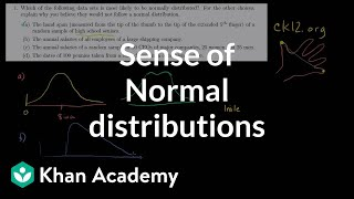 ck12.org Normal Distribution Problems: Qualitative sense of normal distributions