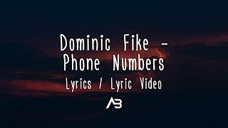 Dominic Fike   Phone Numbers (Lyrics  Lyric Video)