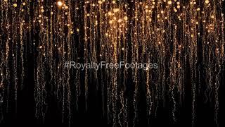 Shimmering Golden Particles on black background | Golden hd motion background video | gold particles
