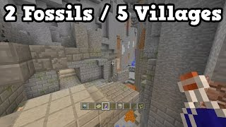 Minecraft Xbox 360 / PS3 TU46 SEED - 2 Fossils + 5 Villages