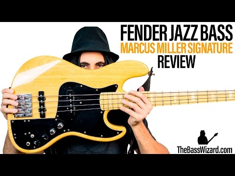 Fender Jazz Bass Review and Demo – Marcus Miller Signature (The Bass Wizard)