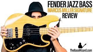 Fender Jazz Bass Review and Demo - Marcus Miller Signature (The Bass Wizard)