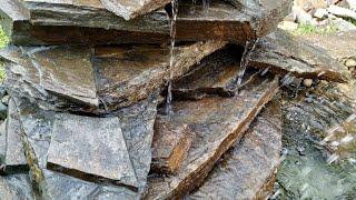 Фонтан водопад из дикого камня