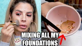 MIXING ALL MY FOUNDATIONS TOGETHER | SHOOK AT THE OUTCOME! - Video Youtube