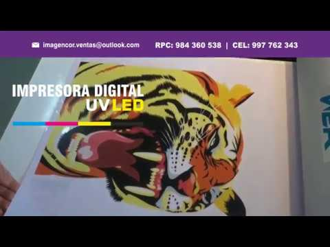 VENTA DE MAQUINAS: Serigrafía Digital UV (Acrílico, PVC, etc) www.imagencor.com | Lima-Perú