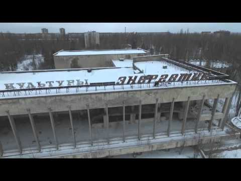 Drone Footage Of Pripyat In The Snow - Chernobyl January 2016