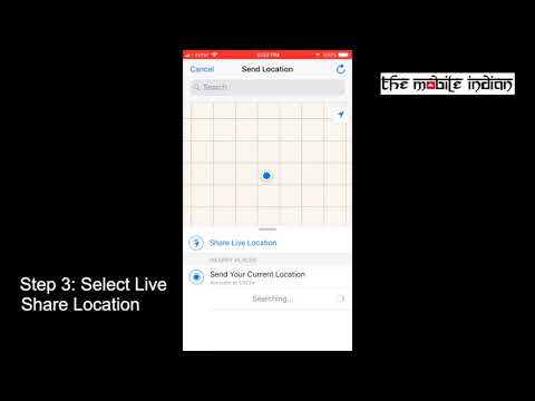 How to use WhatsApp Live Location sharing feature?