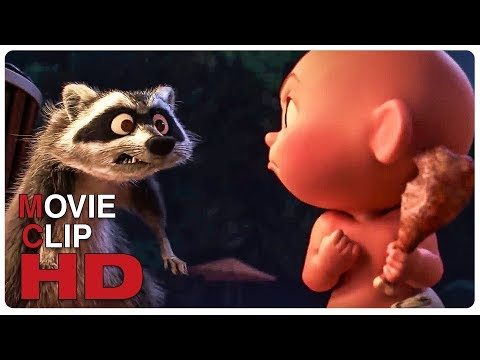 Jack Jack Vs Raccoon - Fight Scene | INCREDIBLES 2 (2018) Movie CLIP HD