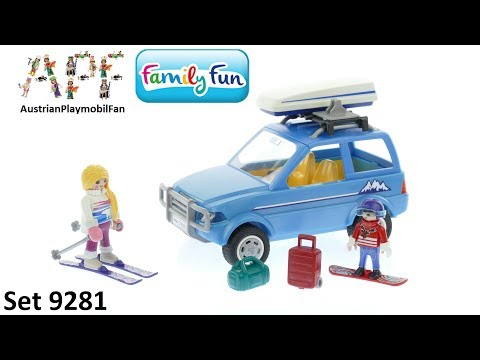 Vidéo PLAYMOBIL Family Fun 9281 : 4x4 avec coffre de toit