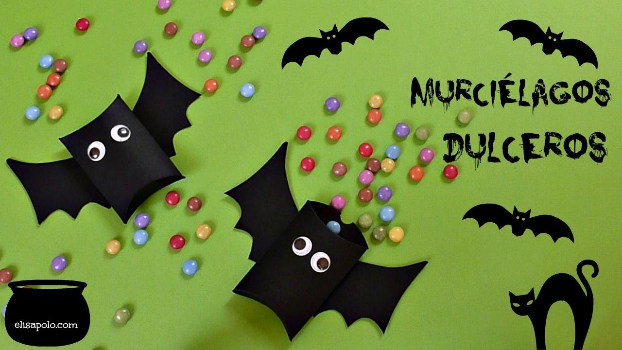 Manualidades para Halloween- Día de los Muertos, Dulcero Murciélago