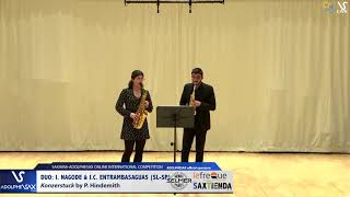 DUO I. NAGODE & J.C.  ENTRAMBASAGUAS play Konzerstuck by P. Hindemith #adolphesax