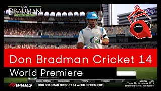 EB Games World Premiere Don Bradman Cricket 14