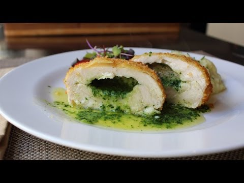 Chicken Kiev – Crispy Chicken Breast Stuffed with Garlic Butter Sauce – How to Make Chicken Kiev