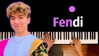 Rakhim - Fendi ● караоке   PIANO_KARAOKE ● ᴴᴰ + НОТЫ & MIDI