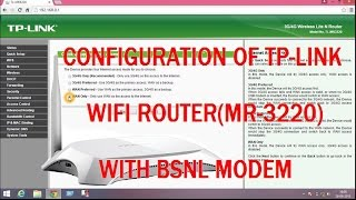 configuration of every tp-link(MR-3220) wifi router with bsnl modem