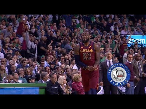 LeBron James Turns Into Micheal Jordan&Shuts Up Boston Crowd!