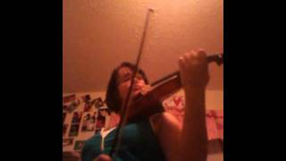 Between you and me by 4him on violin