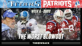 The WORST Blowout in NFL History! (Titans vs. Patriots 2009, Week 6)