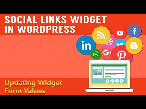 Learn How To Integrate The Social Links Widget in Your WordPress - Part 4