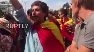 Spain: Protesters Sing Falangist Anthem At Anti-Catalan Independence Rally In Madrid