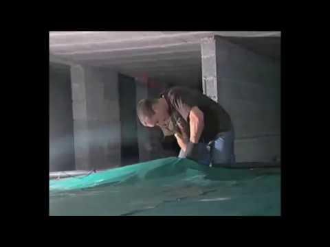 Instalación de depósito cisterna flexible de agua de lluvia o aguas pluviales