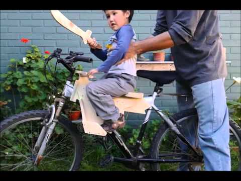 Prototipo asiento para niños adaptable a bicicleta de adulto. child seat for adult bicycle.