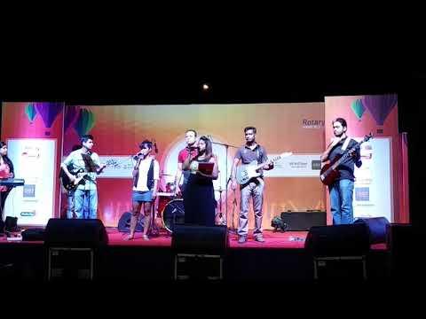 RJ/Anchor/Shiney hosting Sky Fest event at Gachibowli Stadium at Hyderabad