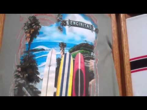 Hansen's Surf Shop Shirt Wall & 50 Year Anniversary T Shirts