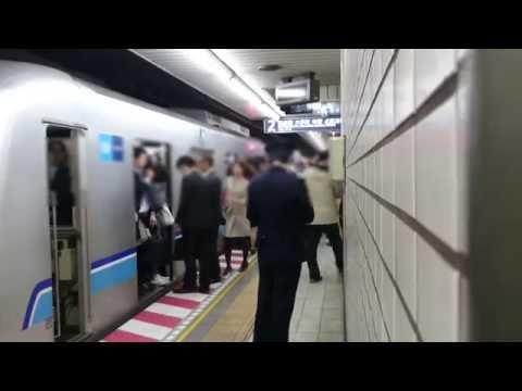 【通勤地獄】地下鉄・東京メトロ東西線、酷過ぎる混雑の様子【日常】~Tokyo Metro Tōzai Line,Rush Hour.